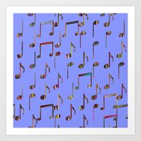 music notes Art Prints featuring Music Notes by pugmom4