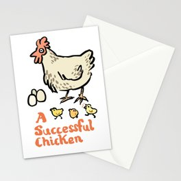 a successful chicken Stationery Cards
