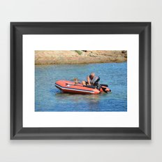 man&dog Framed Art Print