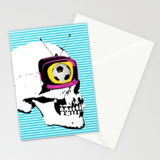 Football Mind - a round thing in the TV eye v3 Stationery Cards
