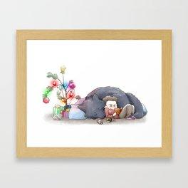 Wolfsmas Framed Art Print