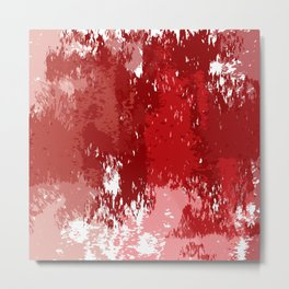 Red Watercolor Metal Print
