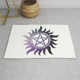 Saving People, Hunting Things, The Family Business Ombre Anti Possession Symbol Rug