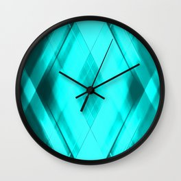 Hot triangular strokes of intersecting sharp lines with heavenly triangles and stripes. Wall Clock