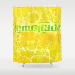 Fresh Lemonade - Abstract Digital Arwork Shower Curtain