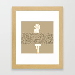 """In the middle"" pop art print Framed Art Print"