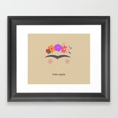 Frida Nipple Framed Art Print