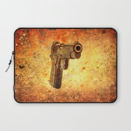M1911 Muzzle On Rusted Background 3/4 View Laptop Sleeve