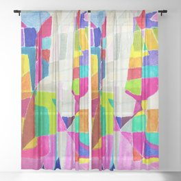 Two Others Comunicating. Sheer Curtain