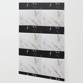 Black Marble & White Glitter Marble #1 #decor #art #society6 Wallpaper