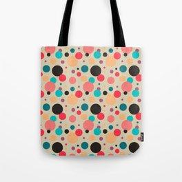 Multicolored Geometric Polka Dot Pattern Tote Bag