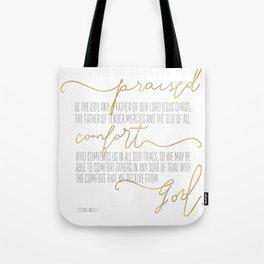 2 Corinthians 1:3,4 - Goldie Tote Bag