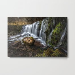Sgwd Clun Gwyn, top section Metal Print