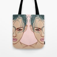 swim Tote Bags featuring SWIM by Laura O'Connor