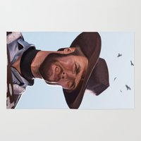 clint eastwood Area & Throw Rugs featuring Clint by Mark Hammermeister