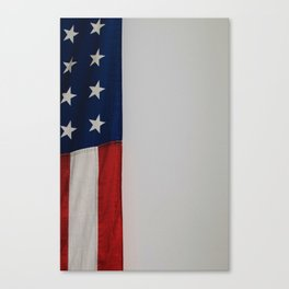 Side Flag (Color) Canvas Print