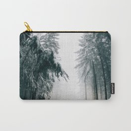 Winding Winter Roads Carry-All Pouch