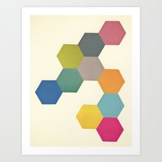 Honeycomb I Art Print