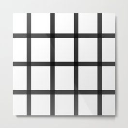 Black and white checkered art Metal Print