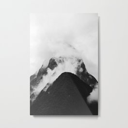 Misty Peak Metal Print