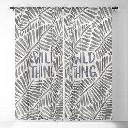 Wild Thing – Black Palette Sheer Curtain