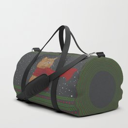 Knitted Wintercat Duffle Bag