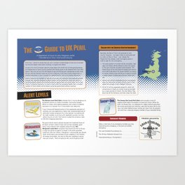 UK Peril Alert System Art Print