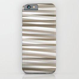 Stripes neutral graige beige gray  iPhone Case