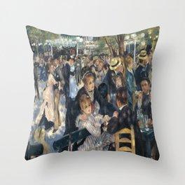 Pierre-August Renoir's Bal du moulin de la Galette Throw Pillow