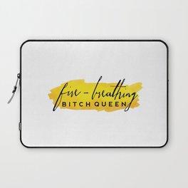 Fire-Breathing Bitch Queen Laptop Sleeve