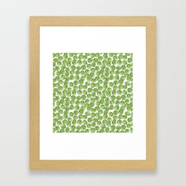 Brussel Sprouts pattern Framed Art Print
