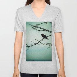 Silent Bird Unisex V-Neck