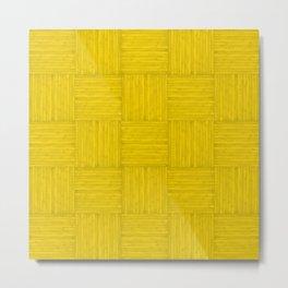 Gold Yellow Faux Bois Wood Pattern Metal Print