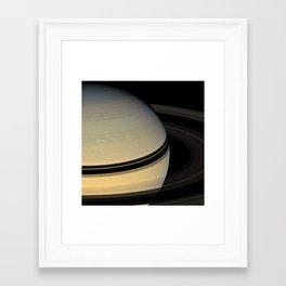 Solar System: 6 Saturn Framed Art Print