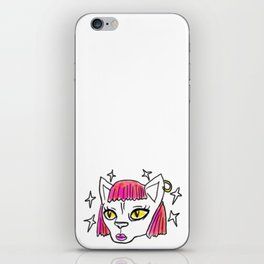 Feline Power - funky illustrated sphynx cat iPhone Skin