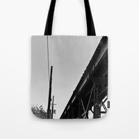milwaukee Tote Bags featuring Milwaukee & Leavitt by Ciara Shook