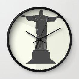 illustration of Statue of Christ in Rio de Janeiro Wall Clock