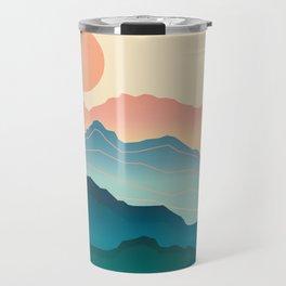 Wanderlust Gradient Mountain Travel Mug