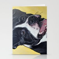 pit bull Stationery Cards featuring Pit Bull by WOOF Factory