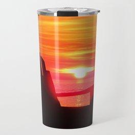 Sunset and the Chair Travel Mug