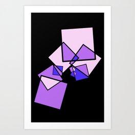 moving squares -13a- Art Print