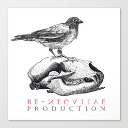 BE-NEGATIVE // LOGO Canvas Print