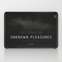 joy division iPad Cases featuring Joy Division - Unknown Pleasures (FACT 10) by ahutchabove