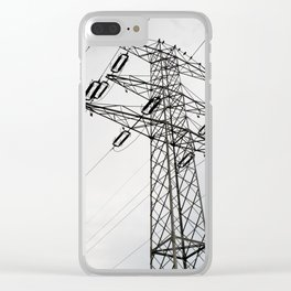 Electric power transmission Clear iPhone Case