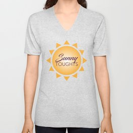 Simple Graphic Sunny Thoughts Orange Sun Unisex V-Neck
