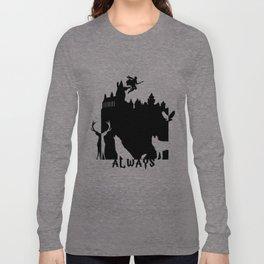 Potter clock and patronus group  Long Sleeve T-shirt