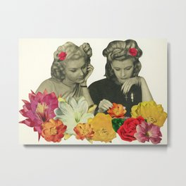 Flower Collectors Metal Print
