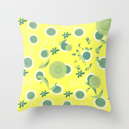 Yellow Green Decorative Pillows : Yellow green design Throw Pillow by LoRo Art & Pictures Society6