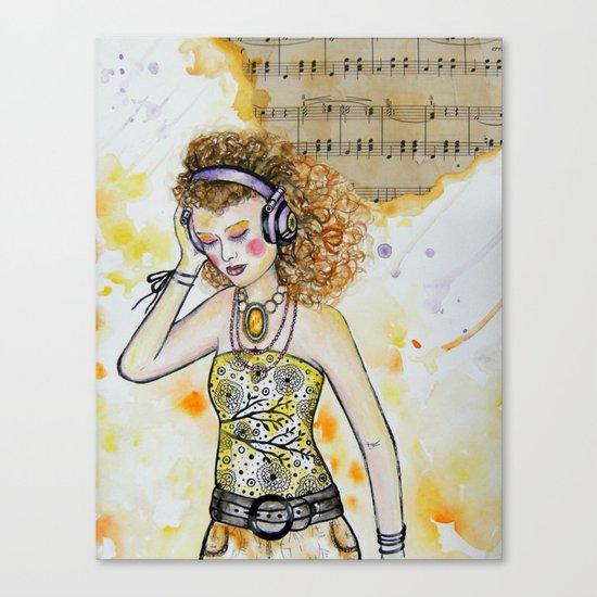 She Listens Canvas Print
