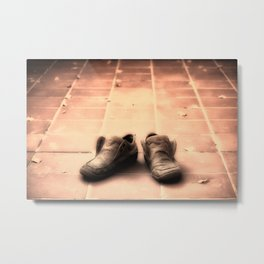 Lonely Shoes Metal Print